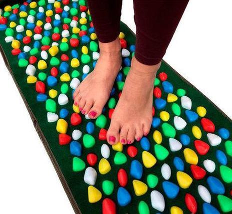 Дорожка для массажа стоп с камнями «Морская галька» MASSAGE ROAD (Разноцветная), фото 2