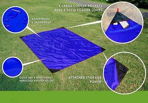 Коврик карманный для пикника или пляжа Beach Mat в чехле (1 местный / Серый), фото 3