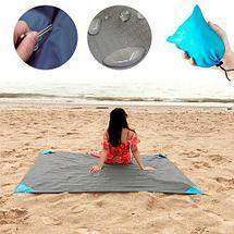 Коврик карманный для пикника или пляжа Beach Mat в чехле (1 местный / Васильковый), фото 2