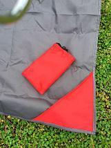 Коврик карманный для пикника или пляжа Beach Mat в чехле (2 местный / Темно-серый), фото 2