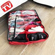 Органайзер для 12 пар обуви SHOES ORGANIZER PRO с вентиляцией (Красный), фото 3