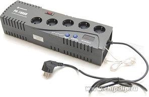 VR-PR1000D, Стабилизатор напряжения релейный, 220В, 1000ВА/600Вт