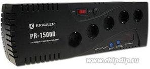 VR-PR1500D, Стабилизатор напряжения релейный, 220В, 1500ВА/900Вт