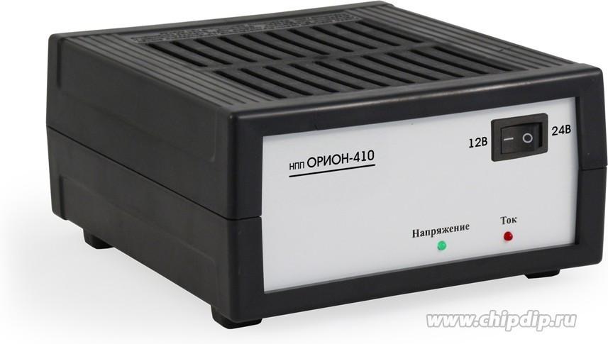 НПП Орион-410, Устройство зарядное для свинцовых аккумуляторов 12/24В, 25А