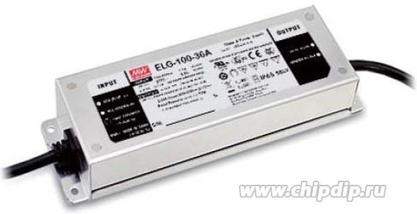 ELG-100-24A, AC/DC LED, 24В,4А,96Вт,IP65 блок питания для светодиодного освещения