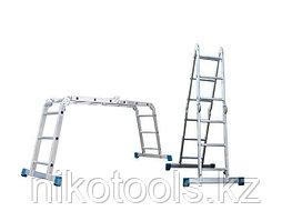 Алюминиевая лестница трансформер (4х5), (Т455)