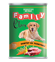 Clan Family консервы для собак (паштет из телятины) 415 гр.