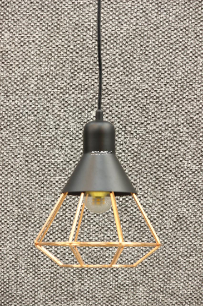 LOFT светильник одноламповый черный