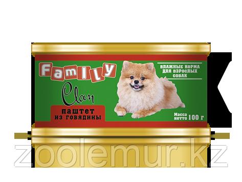 Clan Family консервы для собак (паштет из говядины) 100 гр.