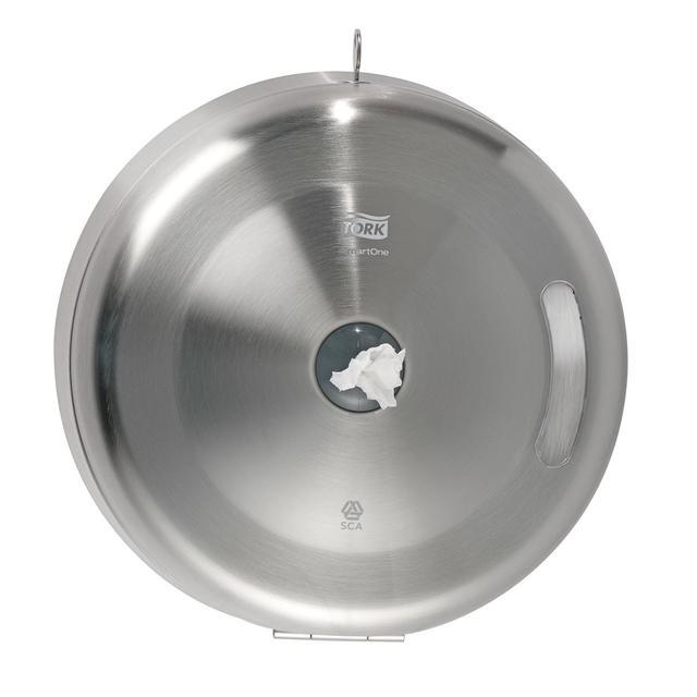 Диспенсер для туалетной бумаги из нержавеющей стали с центральной вытяжкой tork