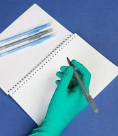 Стерильная шариковая ручка с несмываемыми чернилами