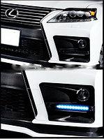 Рамки с диодами в бампер на Lexus RX