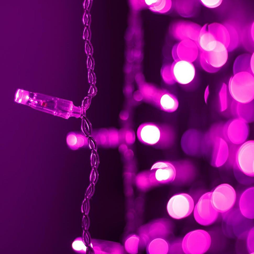 Светодиодная гирлянда ARD-CURTAIN-CLASSIC-2000x3000-CLEAR-760LED Pink (230V, 60W)