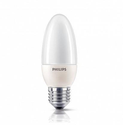 Лампа КЛЛ энергосберегающая  12Вт Softone Candle 12W WW E27 220-240V  871829168097000 Philips