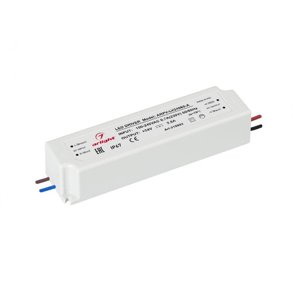 Блок питания ARPV-LV24060-A (24V, 2.5A, 60W)