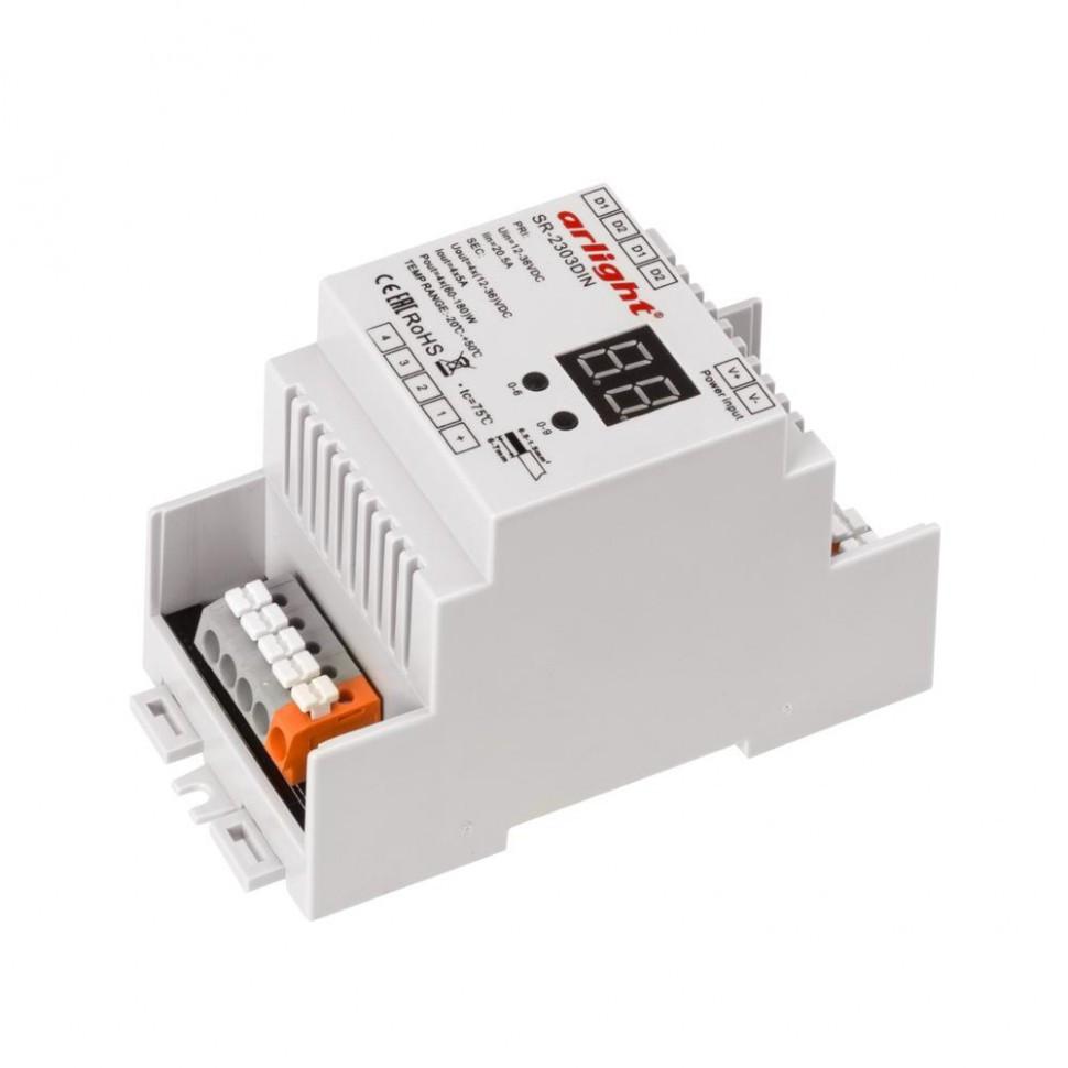 Диммер DALI SR-2303DIN-PD (12-36V, 240-720W, 4 адреса)