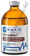 Тетрамаг 100 мл - раствор для инъекций витаминов (А,Д3,Е,F)