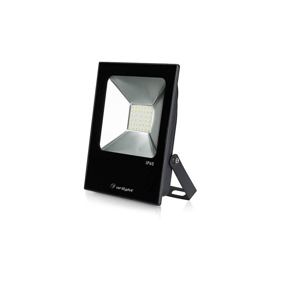 Светодиодный прожектор AR-FLAT-ICE-30W-220V White (Black, 120 deg)