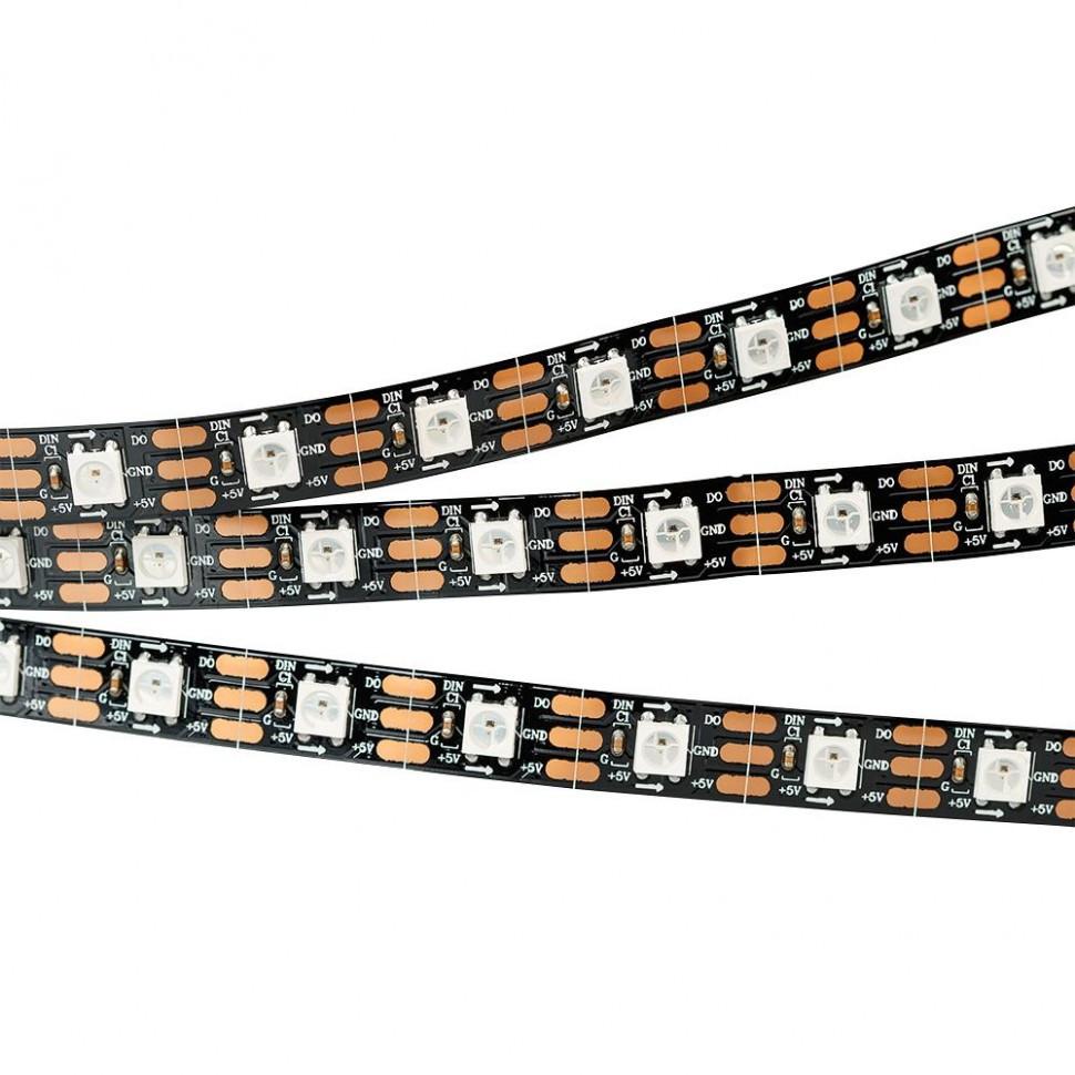 Лента SPI-5000-AM 5V RGB (5060, 300 LED x1, 2812, Black)