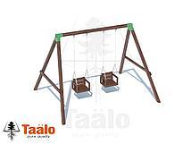 Качели деревянные с сидениями со спинкой (цепь) Taalo