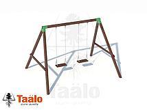 Качели деревянные с сидениями стандарт (цепь) Taalo