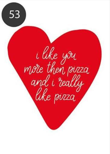 """Открытка-шутка """"Люблю пиццу больше"""""""