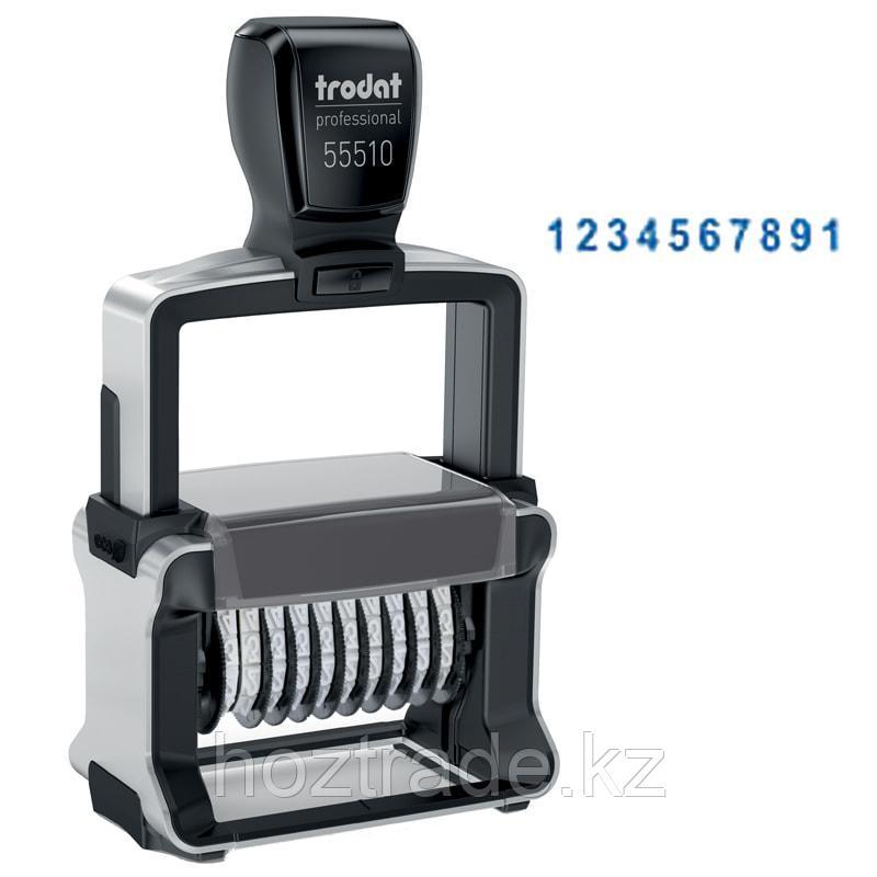 Нумератор Trodat 55510, 10 разрядов, металлический 47*5 мм