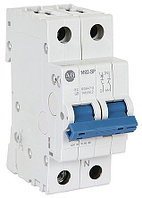 Миниатюрные автоматические выключатели (прерывающие контактные блоки) 1492-SPM2C020 1492 1492SPM MCB Mini Circuit Breaker 2P, 2 A, 10 kA, Curve C