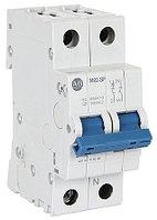 Миниатюрные автоматические выключатели (прерывающие контактные блоки) 1492-SPM2B100 1492 1492SPM MCB Mini Circuit Breaker 2P, 10 A, 10 kA, Curve B
