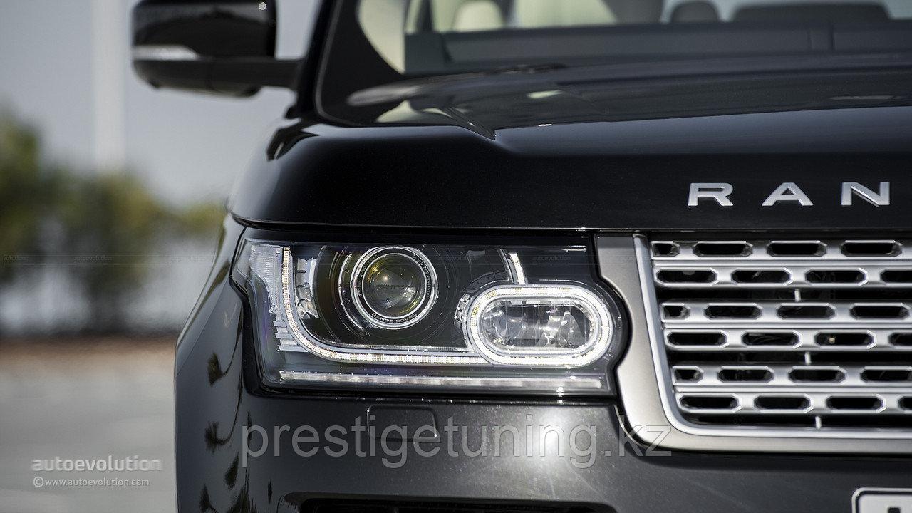 Передние фары на Range Rover Sport 2013-15
