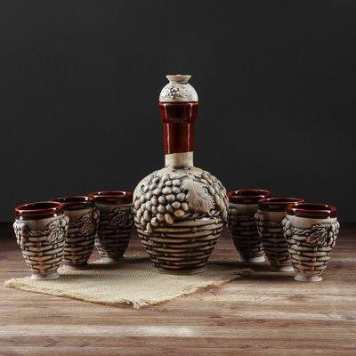 """Набор винный """"Бутылка Плетенка"""", 1,2 л"""