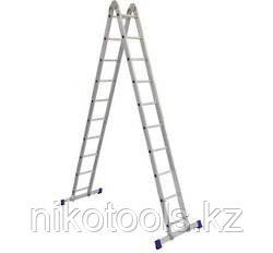 Алюминиевая лестница трансформер (2х10), (Т210)
