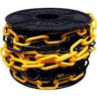 Цепь пластиковая желто-черная