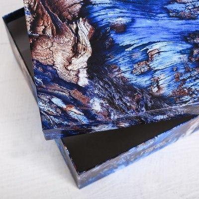 Коробка подарочная квадратная «Кора», 18 × 18 × 9.5 см