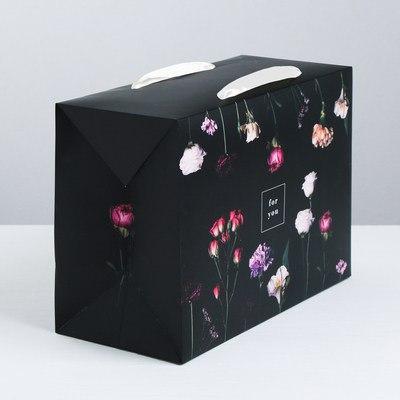 Пакет—коробка For you, 28 × 20 × 13 см