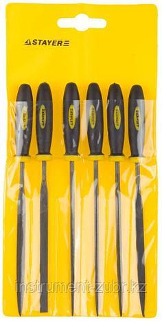 """Набор STAYER """"PROFI"""" Надфили с двухкомпонентной ручкой, 100мм, 6шт, фото 2"""