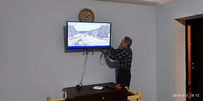 Подключение и настройка телевизоров в сауне данного гостиничного комплекса.На телевизорах были настроены телеканалы спутникового телеоператора НТВ + восток и телеканалы цифрового эфирного телеоператора ОТАУ-ТВ.