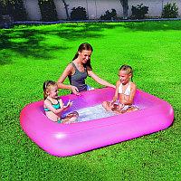 """Детский надувной бассейн """"Аквабэйби"""" (розовый)165х104х25см, Bestway 51115"""